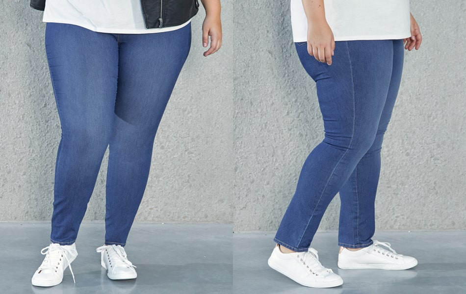 Choosing a pair of large jeans